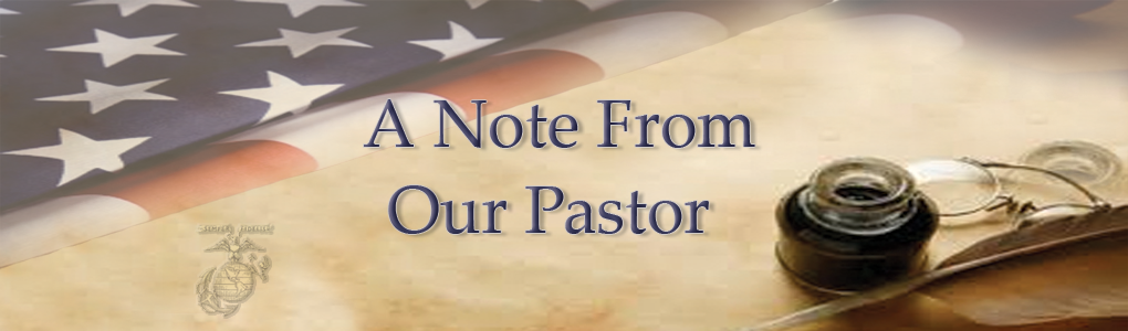 a note from our pastor little ivy baptist church